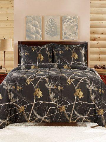 RealTree Comforter Mini Set Black