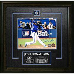 Donaldson,J Signed 8x10 Etched Mat Blue Jays Blue Action-H
