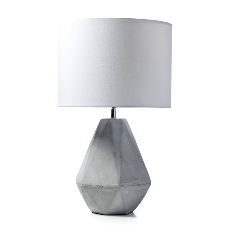 Home Republic Tobin Table Lamp $129.95. Featuring a geometric grey concrete base and circular shade, the Tobin lamp brings a unique, modern style to any room. In a 57x35cm size, it makes an excellent table or desk lamp, and its neutral tones complement any style of decor. $