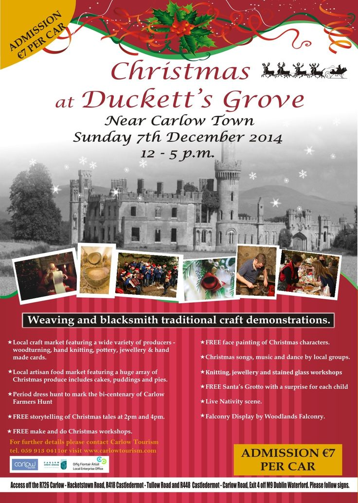 Picturesque castle? Check! Family fun? Check! Local markets for gift shopping? Check! Christmas at Duckett's Grove has this & more! Here's a super  Christmassy afternoon out for the whole family! Duckett's Grove is a very romantic part-ruined gothic style castle in county C