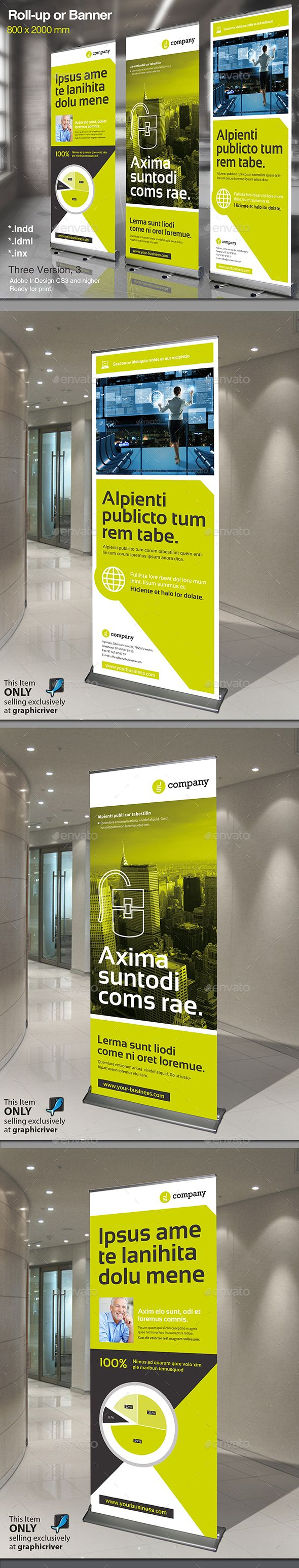 Corporate Banner or Rollup Template INDD, Vector AI #design Download: http://graphicriver.net/item/corporate-banner-or-rollup-vol-3/14460446?ref=ksioks