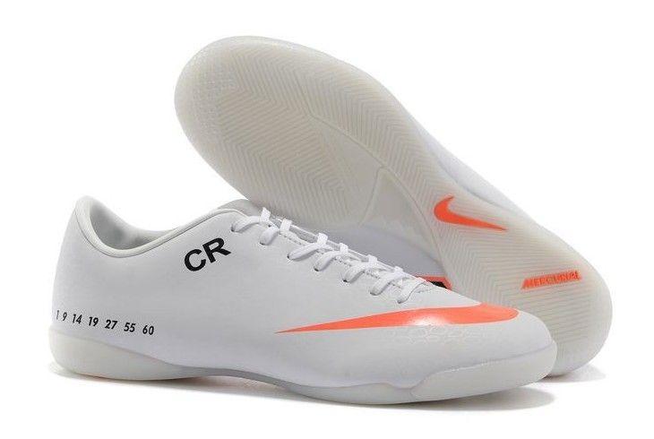 Nike Mercurial Vapor VI IC CR Personal Mens Indoor Soccer Cleats White Black Total Orange