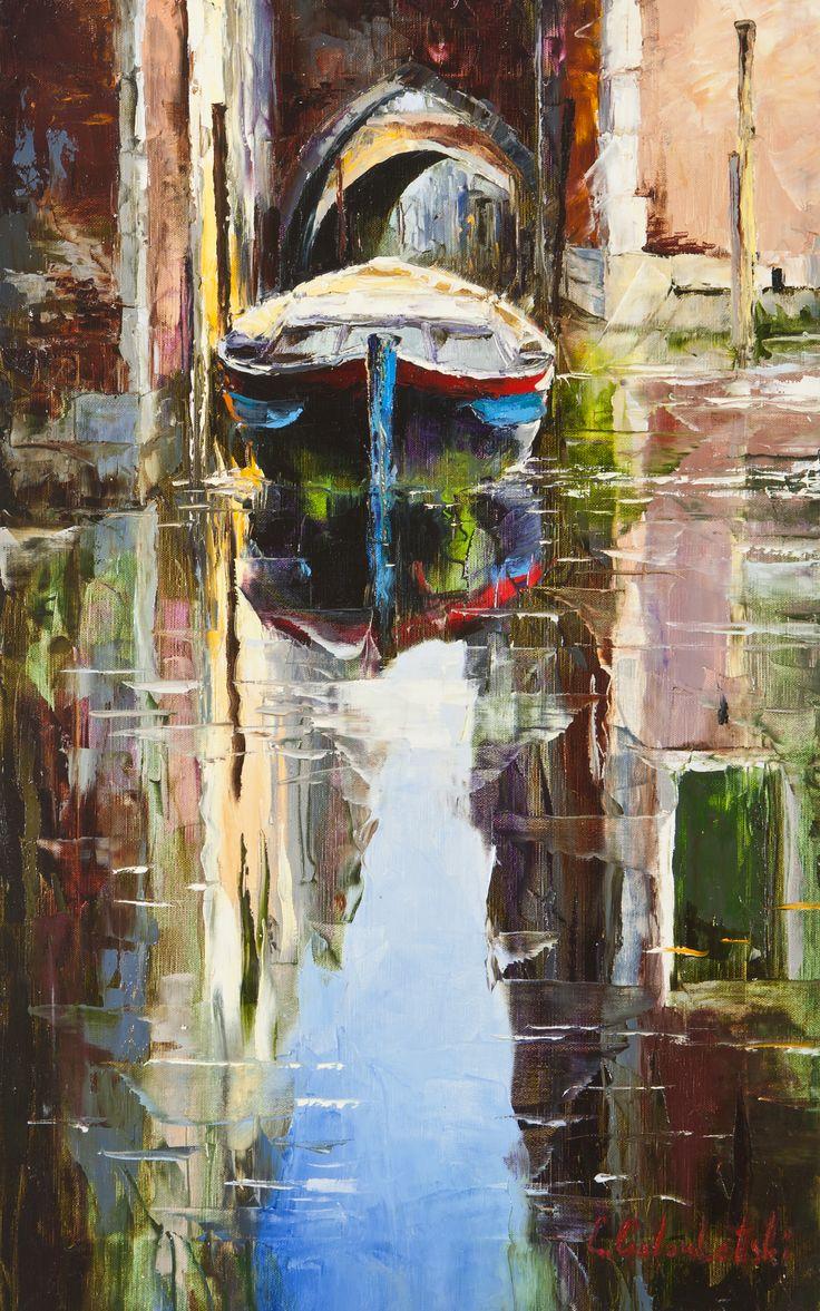 'Venice Reflection' by Gleb Goloubetski' Oil on Canvas 80cm x 50cm