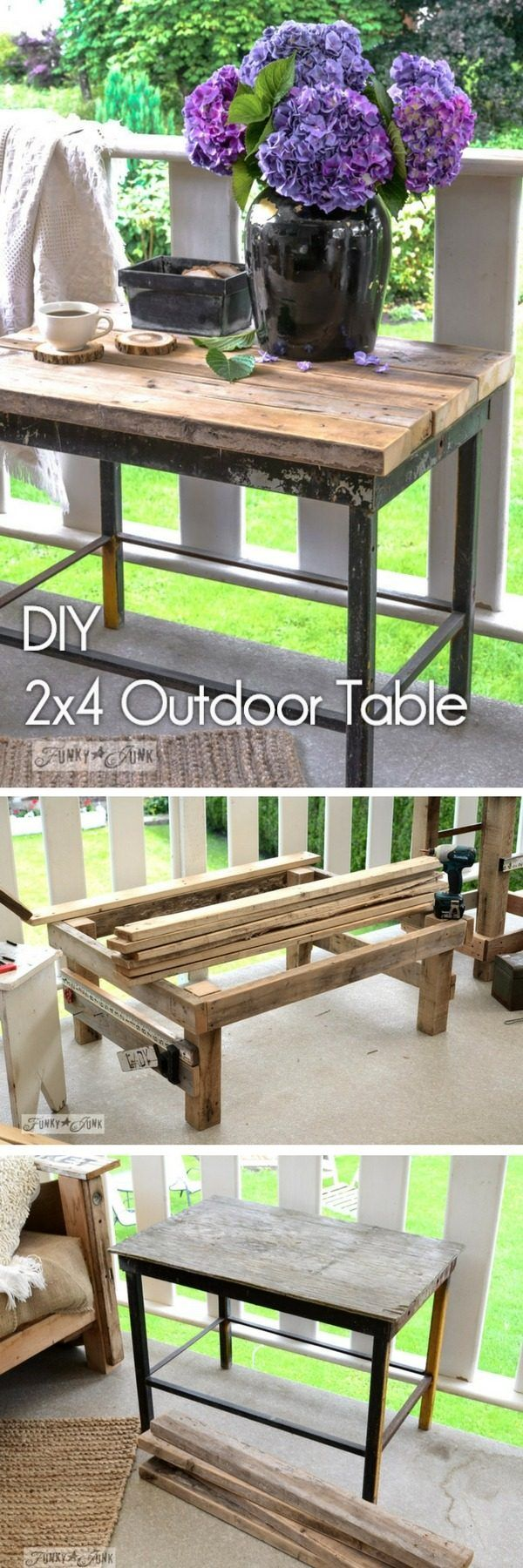 Check out how to make a #DIY #wooden outdoor table from 2x4s #HomeDecorIdeas @istandarddesign