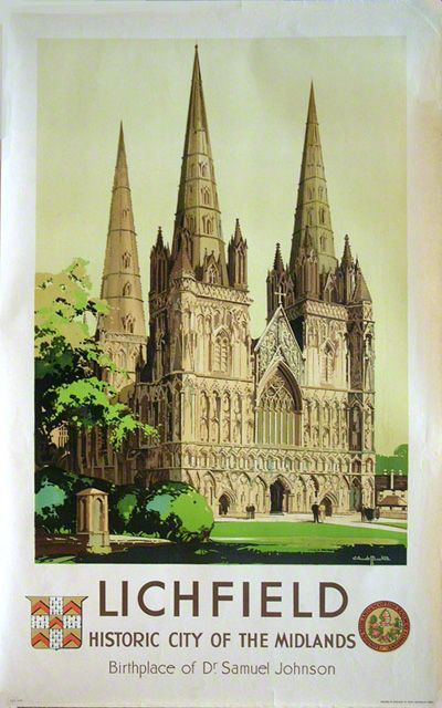 'Lichfield Cathedral', BR poster, 1948.17
