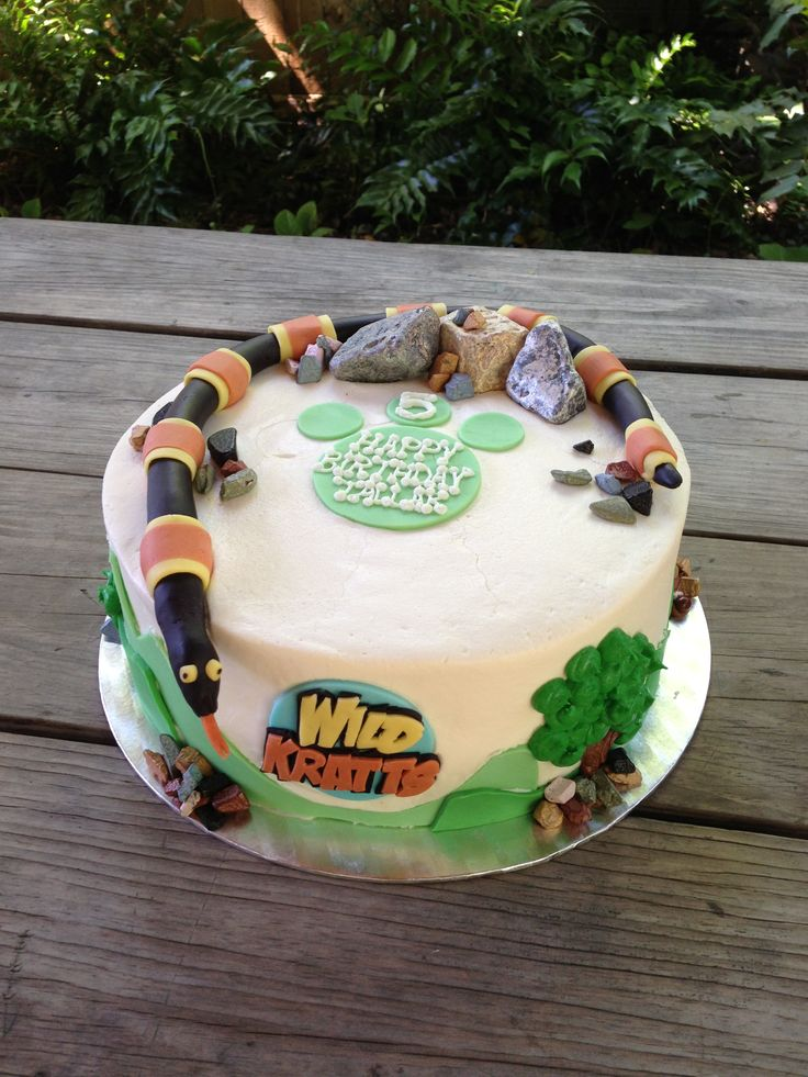 Wild Life Birthday Cake Toppers
