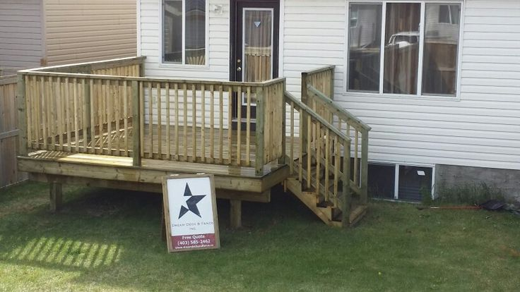 Simple 10x12 Pressure Treated Deck Deck Designs
