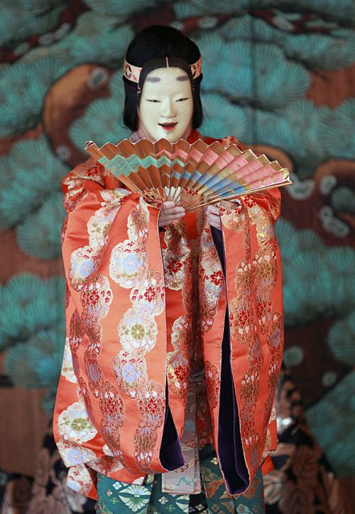 Masked participant of the Noh In festival, Japan. Photographer Takero Kawabata