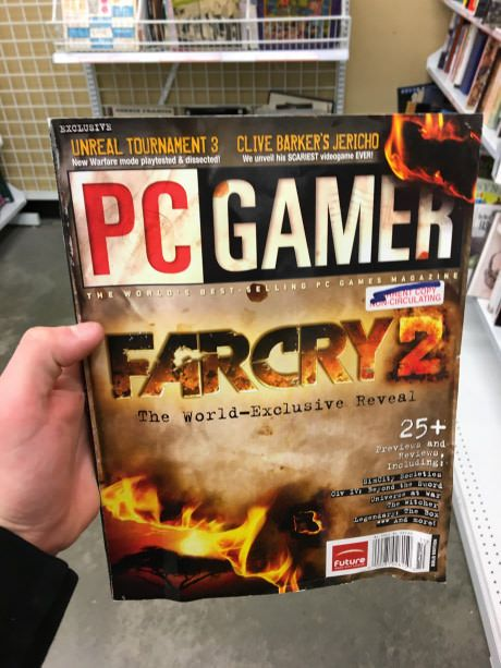 This GameStop is selling an 11 year old PC Gamer magazine.