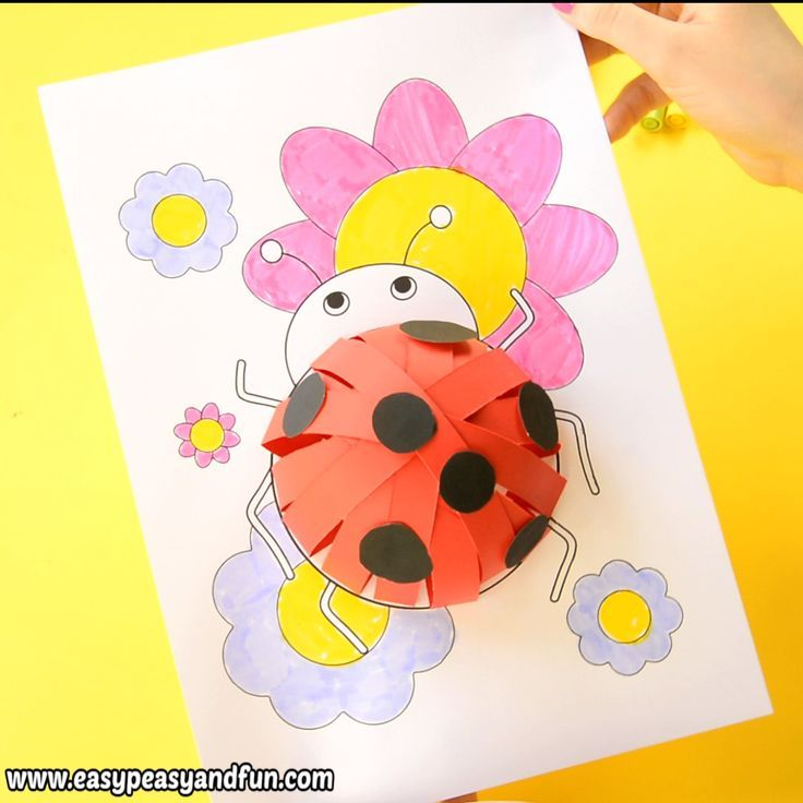 3d Paper Ladybug Craft For Kids With Template 3d Craft