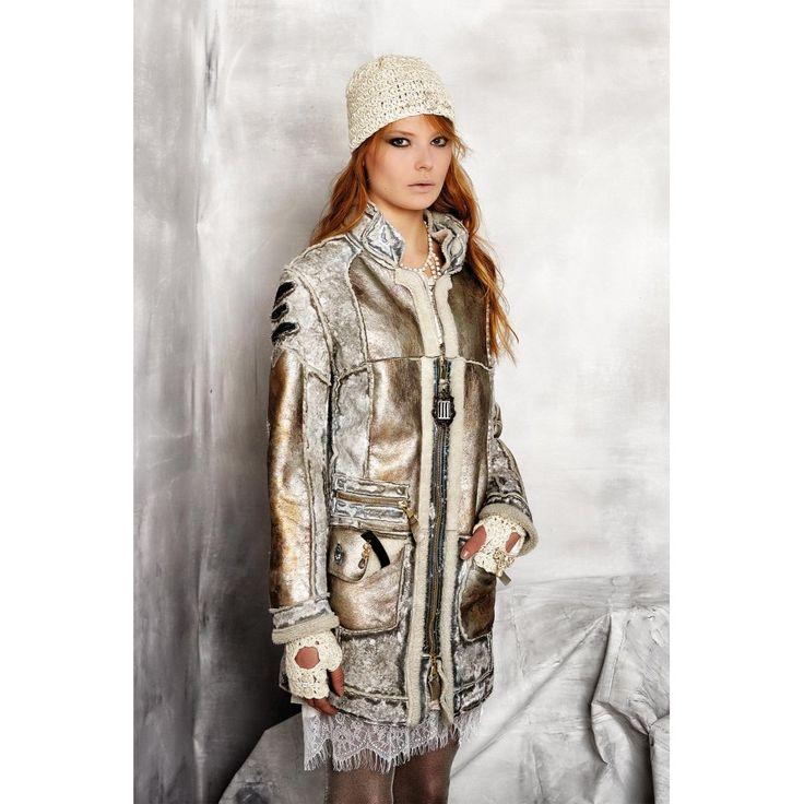 Elisa Cavaletti Elisa Cavaletti Silver/grey Faux sheepskin style jacket - Elisa Cavaletti from Nikki Taylor UK