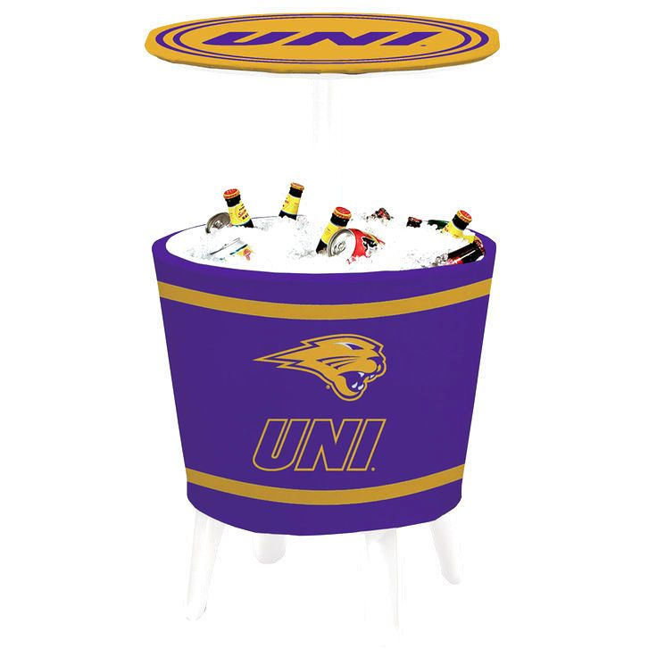 Northern Iowa Panthers Gold Stripe Four Season Event Cooler Table - $207.99