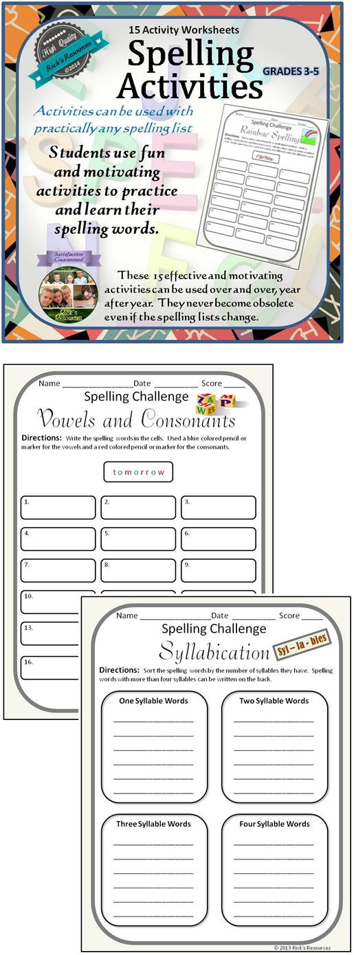 These 15 fun and motivating spelling activities will help ...