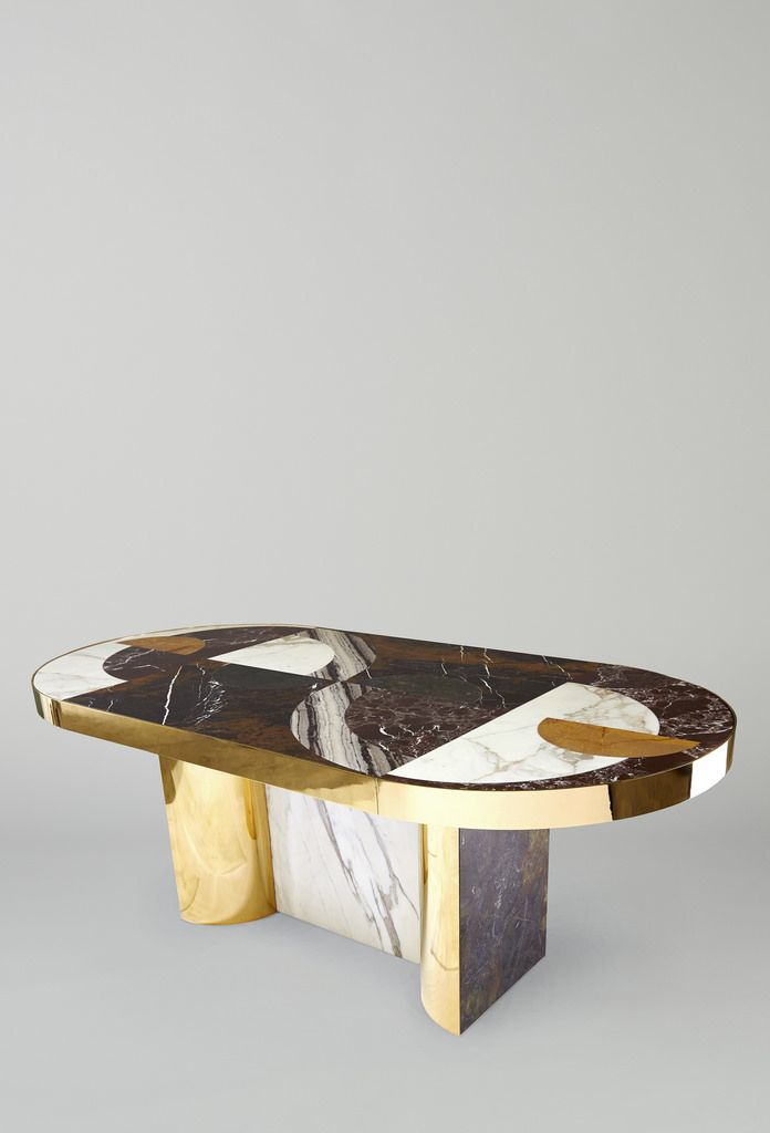 Lara Bohinc Half Moon Dining Table by #Lapicida featured at #Decorex…