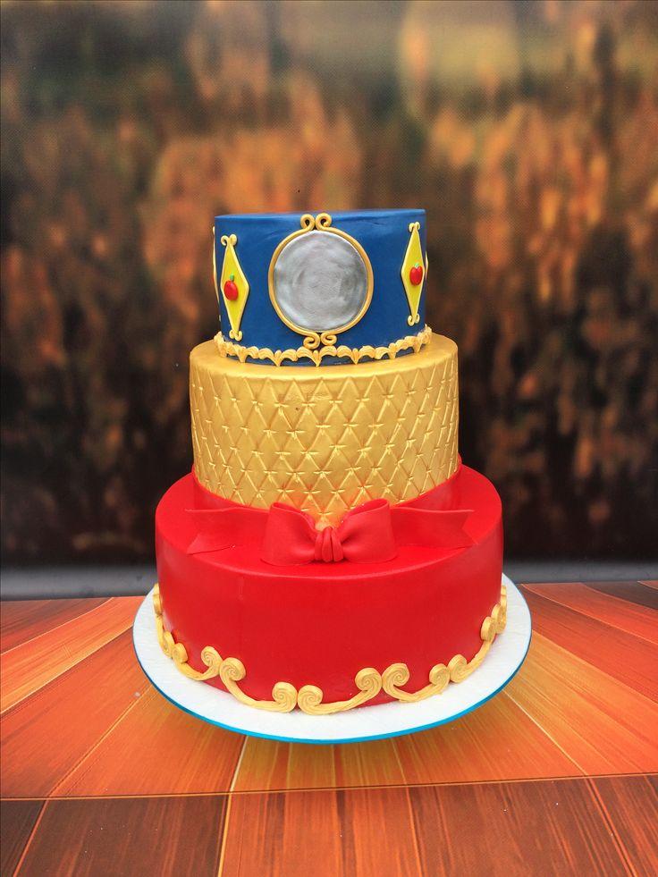 1st Birthday cake. Snow White theme.