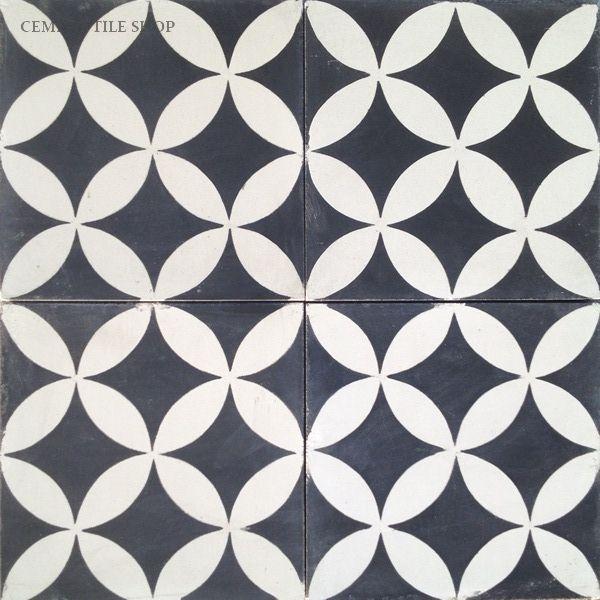 Cement Tile Shop - Encaustic Cement Tile Circulos Black