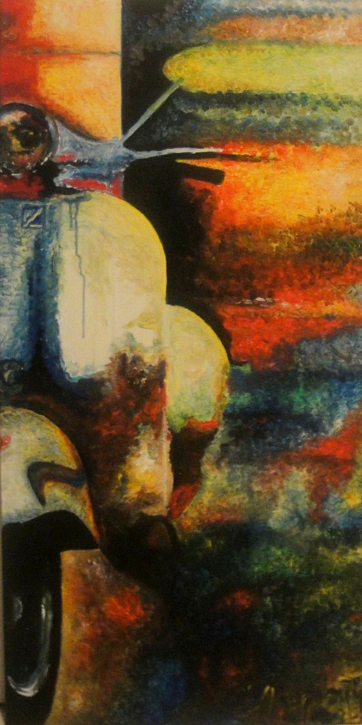 vespa 100x50cm acrylic on canvas