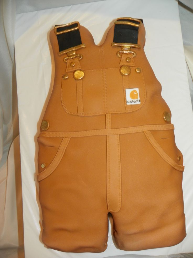 Carhartt Overall's, baby shower cake   Well..lets take this obsession to the next level