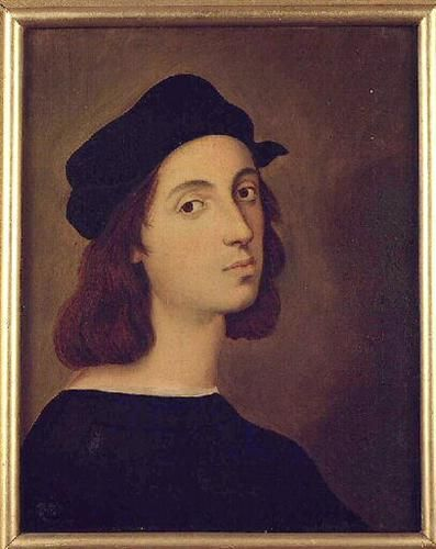 Portrait of Raphael, 1824, oil, Musee Ingres, Montauban, France