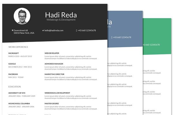 20+ Amazing Creative Resume Design Templates (Today) Resume - resume models