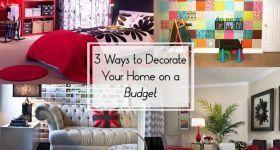 Bütçe Evini dekore etmek 3 Yolları