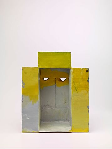Mark GrotjahnUntitled (Through the Sky and Yellow Mask M11.b), 2012Painted bronze55.9 x 44.4 x 33 cm