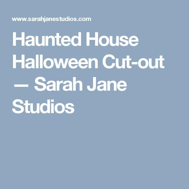 Haunted House Halloween Cut-out — Sarah Jane Studios