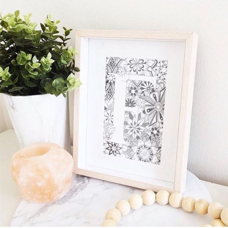 The Etchings Collection   Zentangle Letter, Typography Drawing, Letter F Art, Monogram Letter F, ABC Zentangle, Name Decor, New Baby Gift, ABC Art, Custom Initials