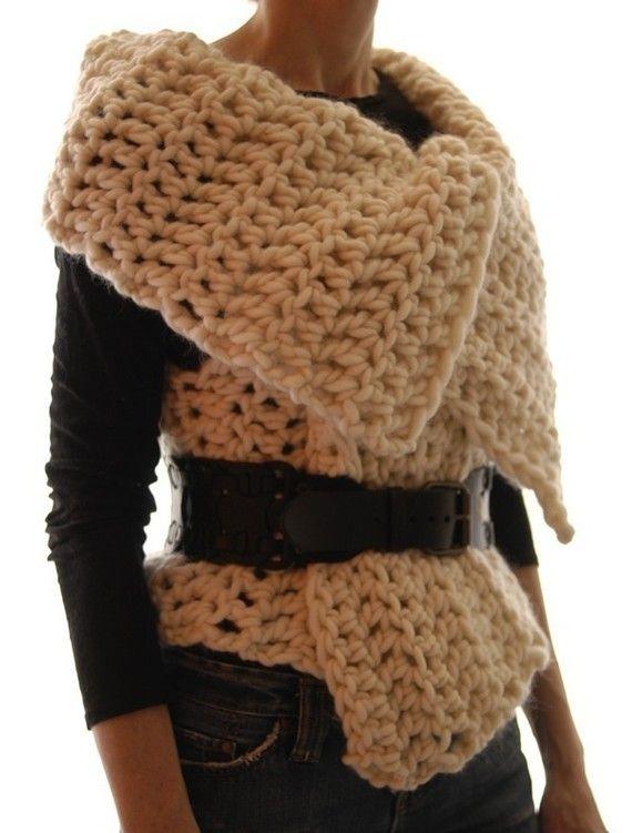 Magnum Reversible Vest/Wrap crochet PDF Pattern by karenclements, $6.50