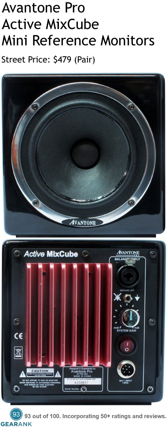Avantone Pro Active MixCube Mini Reference Powered Studio Monitors.  These are a mini reference monitor with emphasis on the midrange, mimicking the sound of basic sound systems like those found in televisions, mobile phones, car stereos, bluetooth players, laptops and more. For a detailed guide to The Best Studio Monitors Under $500 see https://www.gearank.com/guides/best-studio-monitors