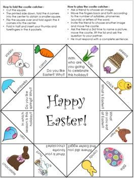 easter cootie catchers 31 best my teaching ressources images on fall 1916