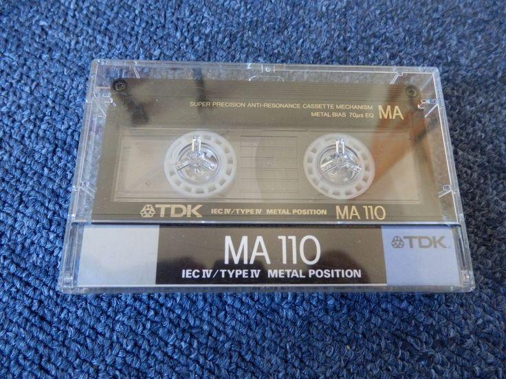 1x TDK MA 110 Reineisen Typ IV Metal Metall. Guter Zustand!