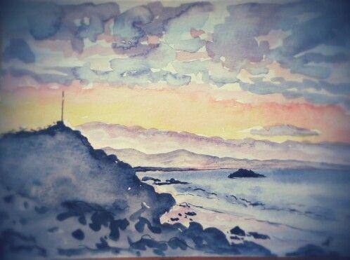 Sumner sunset watercolour