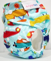One of my new favourite Designer Bums Nappies.  This one is gorgeous in person.