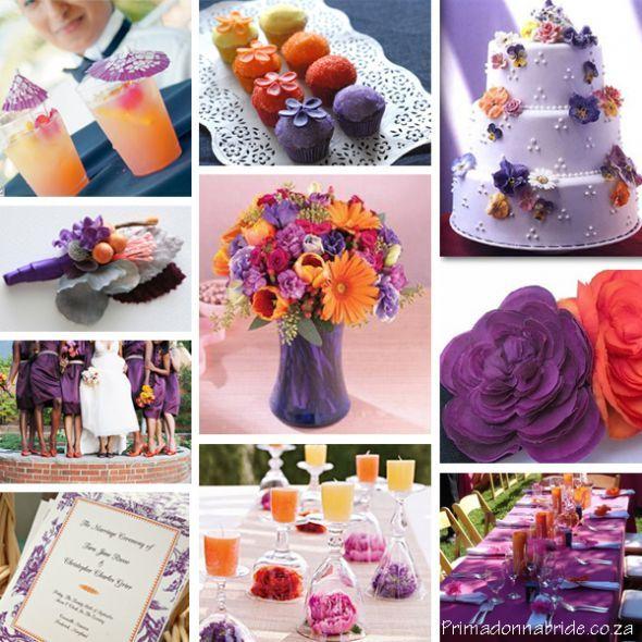 Wedding Colors May Theme Orange And Purple
