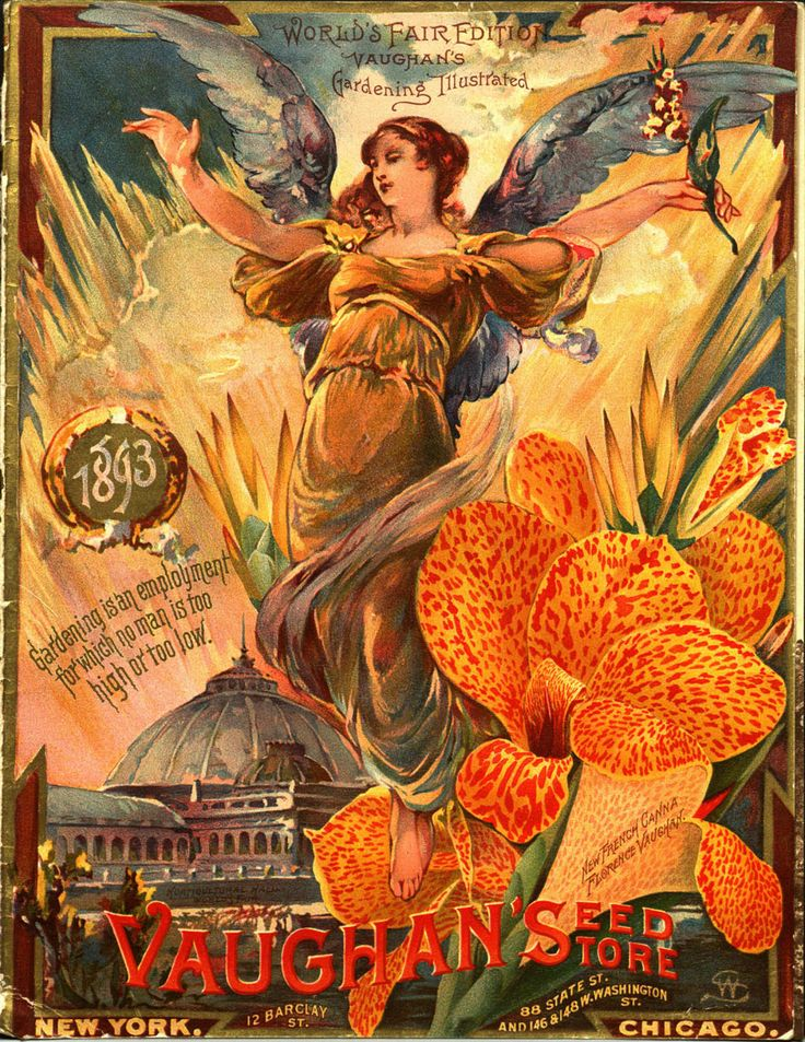From the collection at Andersen Horticultural Library. Nurseries historically have a large presence at world's fairs and other horticultural exhibitions. New York-based Vaughan's Seed Store issued a special edition of their 1893 seed catalog for the 1893 Columbian Exposition in Chicago.