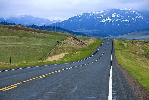 Highway 200 east of Rogers Pass