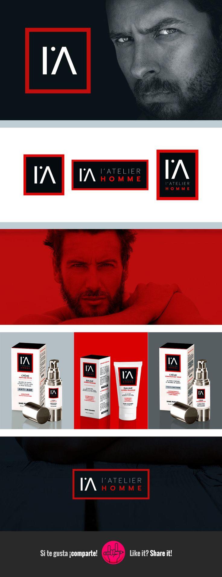 L'Atelier Homme es una nueva marca de belleza y cuidado personal para hombre con presencia online, proyección y muchas ganas de hacer las cosas bien.   Para su primer lanzamiento de cremas: contorno de ojos, antiage y aftershave hemos creado juntos el logotipo y adaptado los diferentes packaging de producto.