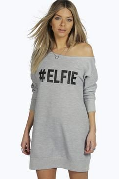Elly #Elfie Festive Sweater Dress