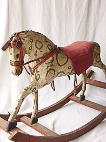 Antique Rocking Horse by And George