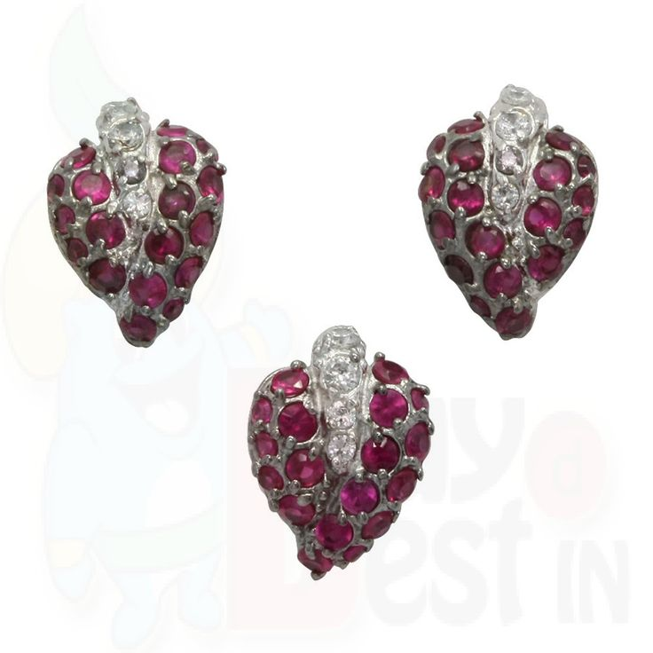 BuyDBest Earring  Pendant OEP-00423 Red