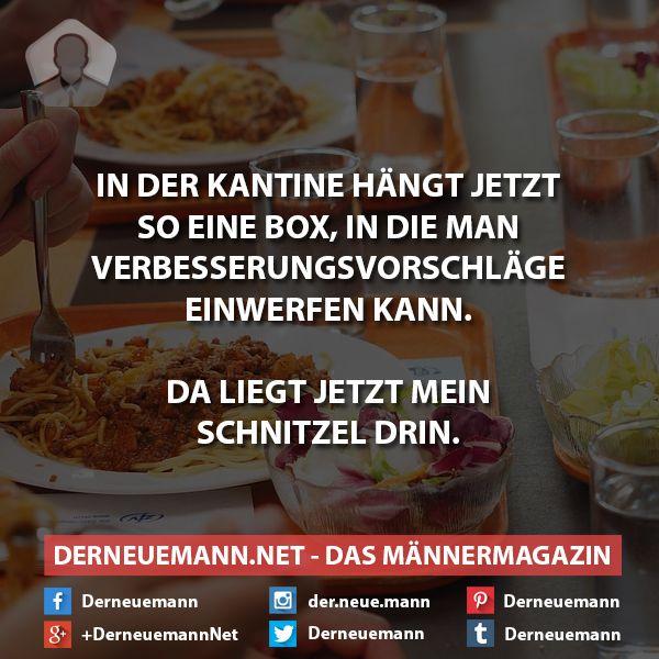 Kantine #derneuemann #humor #lustig #spaß #sprüche #essen