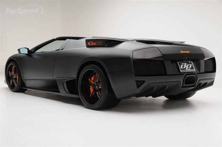 Matte Black Lamborghini Murcielago LP650-4 Roadster