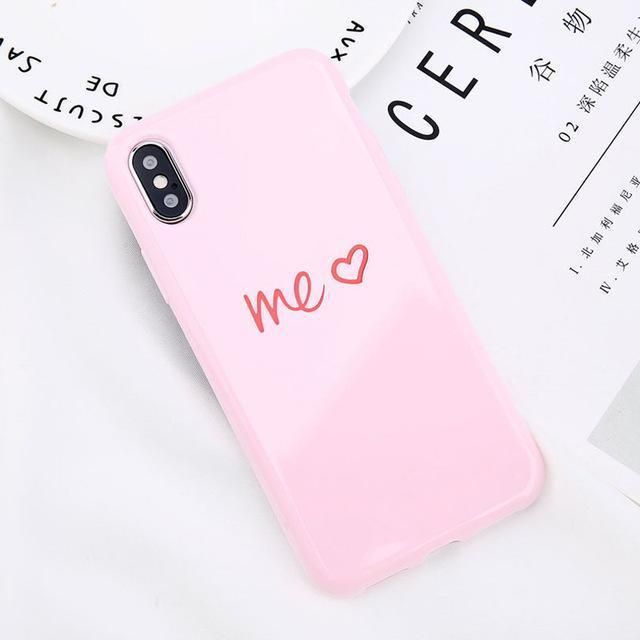 USLION Glossy KING QUEEN iPhone Case Cute Phone Cases Outfit Accessories  From Touchy Style  d2d38ca78