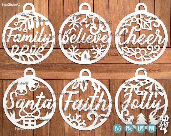 Download Christmas Bauble Vinyl Stickers - CHRISMASIH