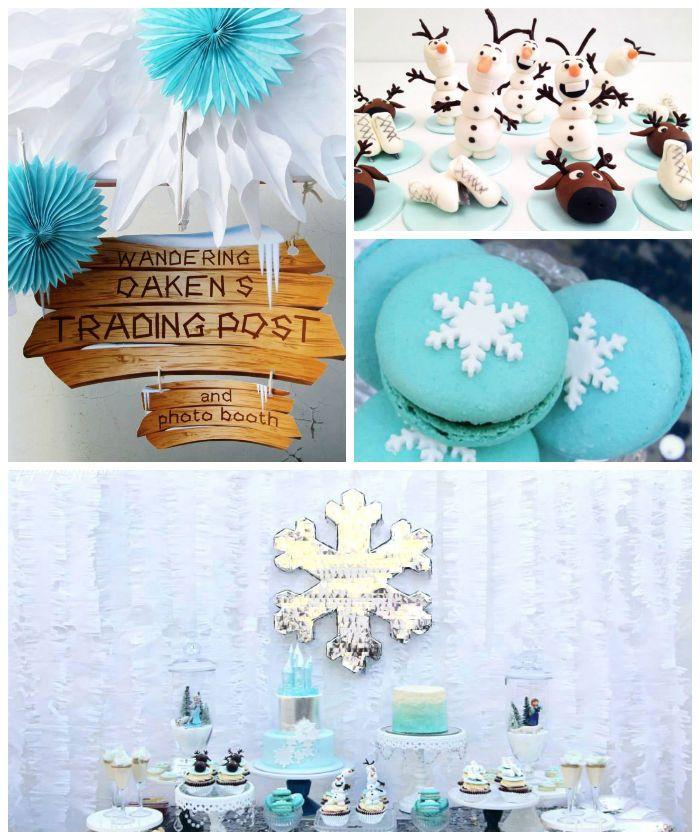 Frozen Birthday Party Celebration via Kara's Party Ideas KarasPartyIdeas.com #frozen #frozenparty #karaspartyideas Printables, desserts, sup...