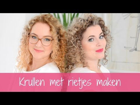 Krullen met rietjes (heatless straw curls) - YouTube