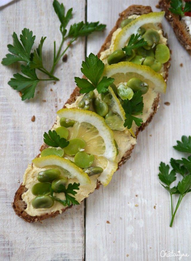 Tartines houmous, fèves et citron - Blog de Châtaigne