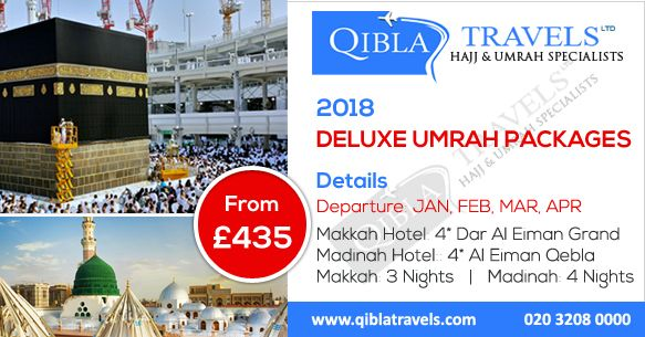 """""""Deluxe Umrah Packages 2018"""" for UK citizens #DeluxeUmrahPackages #Umrahpackages #5starumrah #Umrah #Qiblatravels #umrah2018 Deluxe Umrah packages 2018 is our best Umrah package. We are the best choise for clients with our quality services and reasonable price."""