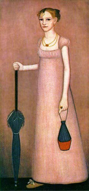 ca. 1816 Portrait of Harriet Leavens by Ammi Phillips of Western Massachusetts